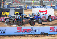 Apr 16, 2011; Surprise, AZ USA; LOORRS driver Patrick Clark (25) leads Austin Kimbrell (88) during round 3 at Speedworld Off Road Park. Mandatory Credit: Mark J. Rebilas-.