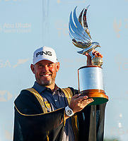 Lee Westwood (ENG) winner of the Abu Dhabi HSBC Championship, Abu Dhabi Golf Club, Abu Dhabi,  United Arab Emirates. 19/01/2020<br /> Picture: Oisin Keniry | Golffile<br /> <br /> <br /> All photo usage must carry mandatory copyright credit (© Golffile | Oisin Keniry)
