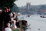 Rowing, The Henley Royal Regatta, Henley on Thames, England, Great Britain, United Kingdom, Europe. Always well dressed spectators line the banks of England's famous regatta course between races,.?
