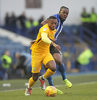 Preston North End's Darnell Fisher  battles with  Sheffield Wednesday's Joshua Onomah  <br /> <br /> Photographer Mick Walker/CameraSport<br /> <br /> The EFL Sky Bet Championship - Sheffield Wednesday v Preston North End - Saturday 22nd December 2018 - Hillsborough - Sheffield<br /> <br /> World Copyright &copy; 2018 CameraSport. All rights reserved. 43 Linden Ave. Countesthorpe. Leicester. England. LE8 5PG - Tel: +44 (0) 116 277 4147 - admin@camerasport.com - www.camerasport.com
