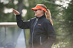 April 14, 2014; Bremerton, WA, USA; Pepperdine Waves women's golf head coach Laurie Gibbs during the WCC Golf Championships at Gold Mountain Golf Club.