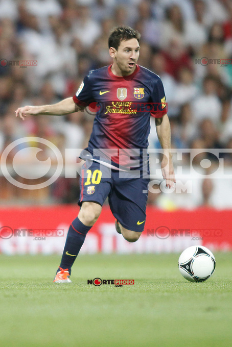 Barcelona's Leo Messi during Super Copa of Spain on Agost 29th 2012...Photo:  (ALTERPHOTOS/Ricky) Super Cup match. August 29, 2012. <br />