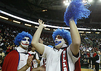 12 December 2009: Gonzaga Bulldogs blue hair mascots came out in full force to support the Bulldogs against Davidson Wildcats. Gonzaga won 103-91over Davidson in the 2009 Comcast Battle game held at Key Arena in Seattle, WA
