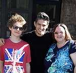 Papermill Playhouse presents ballroom with a twist 2 starring So You Think You Can Dance - Legacy who poses with Kameron and Vikki on May 11, 2014 in Millburn, New Jersey. (Photo by Sue Coflin/Max Photos)
