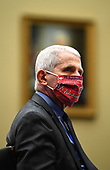 Dr. Anthony Fauci, Director of the National Institute for Allergy and Infectious Diseases, National Institutes of Health, wears his Washington Nationals mask as he testifies during a United States House Energy and Commerce Committee hearing on the Trump Administration's Response to the COVID-19 Pandemic, on Capitol Hill in Washington, DC on Tuesday, June 23, 2020. <br /> Credit: Kevin Dietsch / Pool via CNP