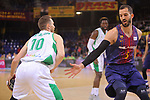 League ACB-ENDESA 2017/2018 - Game: 27.<br /> FC Barcelona Lassa vs Real Betis Energia Plus: 121-56.<br /> Urtasun Txemi vs Pau Ribas.