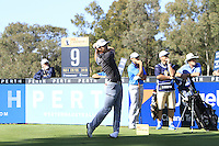 Bryden MacPherson (AUS) on the 9th tee during Round 1 of the ISPS HANDA Perth International at the Lake Karrinyup Country Club on Thursday 23rd October 2014.<br /> Picture:  Thos Caffrey / www.golffile.ie