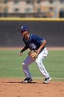San Diego Padres second baseman Tucupita Marcano (67) during an Instructional League game against the Texas Rangers on September 20, 2017 at Peoria Sports Complex in Peoria, Arizona. (Zachary Lucy/Four Seam Images)