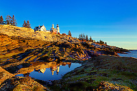 Pemaquid Point Light Station, Muscongus Bay, Bristol, Maine, USA. 1827