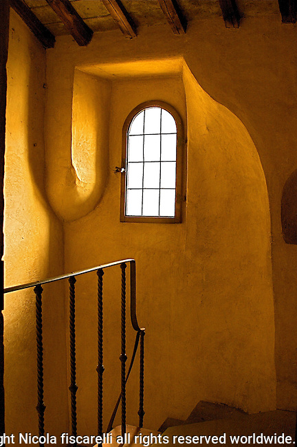 The  stairway  at Convent  of San Francis in Fiesole  leads to the monks cells .