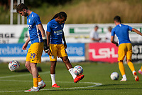 Preston North End's Tom Barkhuizen and Daniel Johnson warm up before the match<br /> <br /> Photographer Alex Dodd/CameraSport<br /> <br /> Football Pre-Season Friendly - Chorley v Preston North End - Tuesday July 16th 2019  - Victory Park - Chorley<br /> <br /> World Copyright © 2019 CameraSport. All rights reserved. 43 Linden Ave. Countesthorpe. Leicester. England. LE8 5PG - Tel: +44 (0) 116 277 4147 - admin@camerasport.com - www.camerasport.com