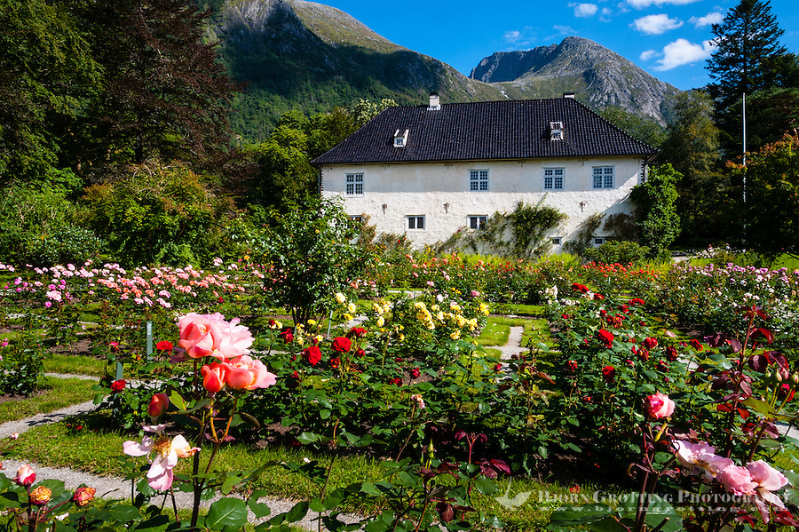 Norway, Rosendal. At the Barony Rosendal manor.