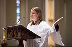 April 29, 2018; Basilica Schola Vespers Concert with  Elaine Stratton Hild a ND Institute for Advanced Study (NDIAS) fellow.  (Photo by Barbara Johnston/University of Notre Dame)
