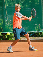 August 4, 2014, Netherlands, Dordrecht, TC Dash 35, Tennis, National Junior Championships, NJK,  Tycho Korporaal (NED)<br /> Photo: Tennisimages/Henk Koster