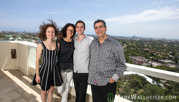 Michael Higer, his wife Bobbie, son Adam and daughter Samantha at their home in Ft. Lauderdale, Florida.
