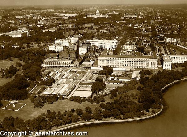 historical aerial photograph Washington, DC, 1931