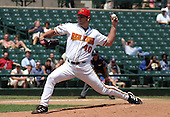 July 14, 2003:  Pitcher Brad Thomas of the Red Wings, Class-AAA affiliate of the Minnesota Twins, during a International League game at Frontier Field in Rochester, NY.  Photo by:  Mike Janes/Four Seam Images