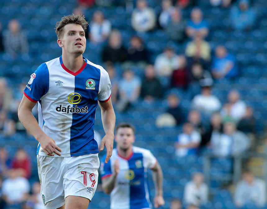 Blackburn Rovers' Sam Gallagher in action during todays match  <br /> <br /> Photographer David Shipman/CameraSport<br /> <br /> The EFL Sky Bet Championship - Blackburn Rovers v Rotherham United - Saturday 17 September 2016 - Ewood Park - Blackburn<br /> <br /> World Copyright &copy; 2016 CameraSport. All rights reserved. 43 Linden Ave. Countesthorpe. Leicester. England. LE8 5PG - Tel: +44 (0) 116 277 4147 - admin@camerasport.com - www.camerasport.com