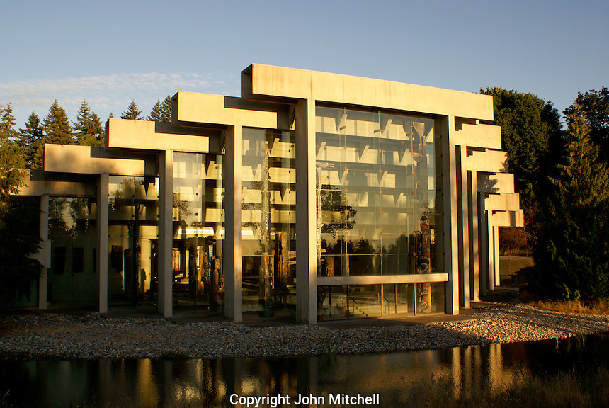 The Museum of Anthropology (MOA), Vancouver, British Columbia, Canada. This building was designed by Canadian architect Arthur Erickson.