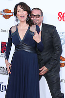HOLLYWOOD, LOS ANGELES, CA, USA - SEPTEMBER 06: Actress Katey Sagal and Kurt Sutter arrive at the Los Angeles Premiere Of FX's 'Sons Of Anarchy' Season 7 held at the TCL Chinese Theatre on September 6, 2014 in Hollywood, Los Angeles, California, United States. (Photo by Xavier Collin/Celebrity Monitor)