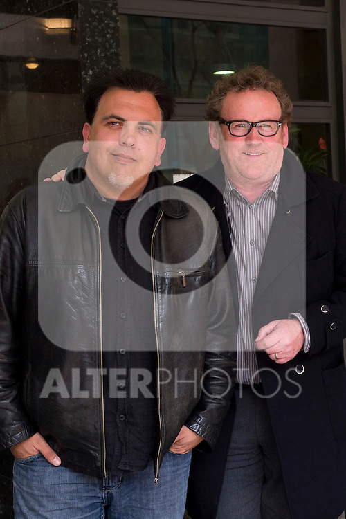 "Cinema Palafox. Madrid. Spain. Presentation in Madrid of the movie ""Perfect Stranger"" with the director Toni Bestard (l) and the actor Colm Meaney. March, 16, 2012..(Alterphotos/Marta Gonzalez)"