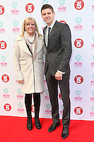 Luke Campbell and his Mother arriving at the Tesco Mum Of The Year Awards 2014, at The Savoy, London. 23/02/2014 Picture by: Alexandra Glen / Featureflash