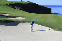 Gerry McManus (IRL) plays his 2nd shot from a fairway bunker on the 6th hole at Pebble Beach course during Friday's Round 2 of the 2018 AT&amp;T Pebble Beach Pro-Am, held over 3 courses Pebble Beach, Spyglass Hill and Monterey, California, USA. 9th February 2018.<br /> Picture: Eoin Clarke | Golffile<br /> <br /> <br /> All photos usage must carry mandatory copyright credit (&copy; Golffile | Eoin Clarke)