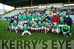 St Brendans Killarney, celebrating in winning the Coiste Iarbhunscoileanna Chiarrai GLC O'Sullivan Cup final in Austin Stack Park on Wednesday last