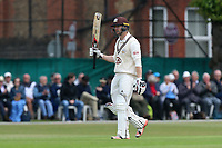 Mark Stoneman of Surrey celebrates scoring a half-century, 50 runs during Surrey CCC vs Essex CCC, Specsavers County Championship Division 1 Cricket at Guildford CC, The Sports Ground on 9th June 2017