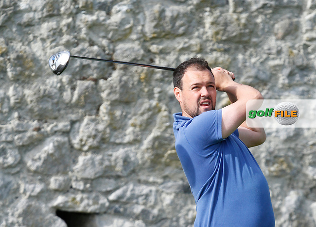 James Quinlivan (Mullingar Golf Club) on the 16th tee during Round 1 of the 104th Irish PGA Championship at Adare Manor Golf Club on Thursday 2nd October 2014.<br /> Picture:  Thos Caffrey / www.golffile.i
