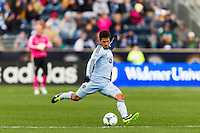 Benny Feilhaber (10) of Sporting Kansas City. Sporting Kansas City defeated the Philadelphia Union 3-1 during a Major League Soccer (MLS) match at PPL Park in Chester, PA, on March 2, 2013.