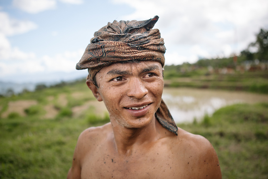 A young Pacu Jawi rider.