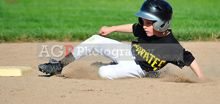 A Pirates action on Opening Day of Pleasanton National Little League, March 12, 2011. (Photo by Alan Greth/AGP Photography).
