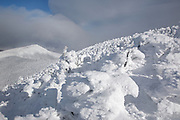 Appalachian Trail - Scenic views from the summit of Carter Dome in the White Mountains, New Hampshire USA during the winter months.