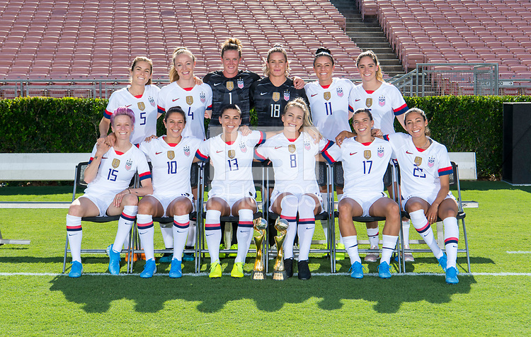 Pasadena, CA - August 2, 2019:  The USWNT posed for a team photo at the Rose Bowl.