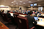 Several hundred people attend a hearing on changes to Nevada's construction defect law at the Legislative Building in Carson City, Nev., on Wednesday, Feb. 11, 2015. <br /> Photo by Cathleen Allison