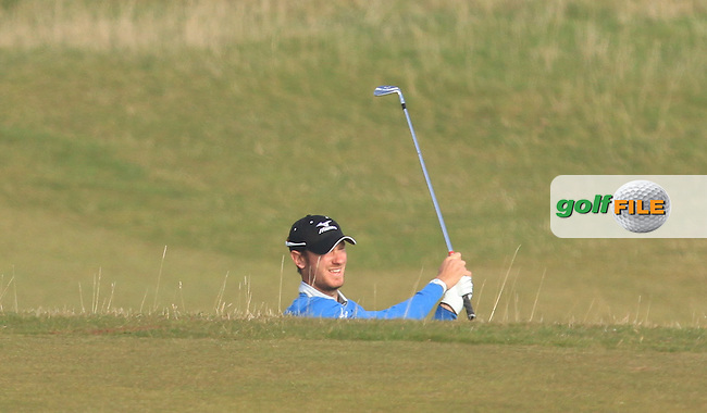 Chris Wood (ENG) on the 14th fairway during Round 4 of the 2015 Alfred Dunhill Links Championship at the Old Course in St. Andrews in Scotland on 4/10/15.<br /> Picture: Thos Caffrey | Golffile