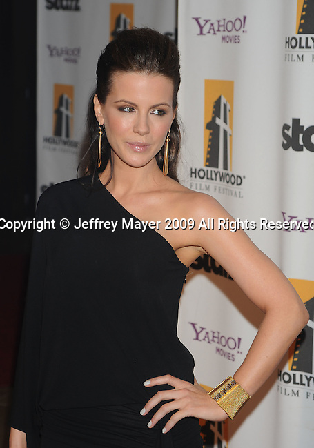 BEVERLY HILLS, CA. - October 26: Kate Beckinsale arrives at the 13th annual Hollywood Awards Gala Ceremony held at The Beverly Hilton Hotel on October 26, 2009 in Beverly Hills, California.