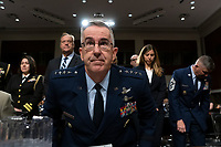 Air Force General John Hyten, who is nominated to become Vice Chairman Of The Joint Chiefs Of Staff, arrives to the U.S. Senate Committee on Armed Services for his confirmation hearing on Capitol Hill in Washington D.C., U.S. on July 30, 2019. Credit: Stefani Reynolds/CNP/AdMedia