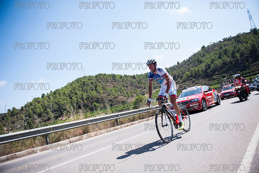 Castellon, SPAIN - SEPTEMBER 7: Biker during LA Vuelta 2016 on September 7, 2016 in Castellon, Spain