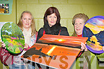 ..Debbie O'Sullivan Killarney, Mary O'Sullivan Lispole and Sheila Daly Farranfore at the Adult art class exhibition in Killarney Community College on Thursday....