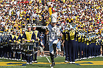 30 August 2008: The Michigan Marching Band take to the field before an NCAA college football game between the Michigan Wolverines and the Utah Utes, at Michigan Stadium in Ann Arbor, Michigan. Utah upset Michigan, winning 25-23.