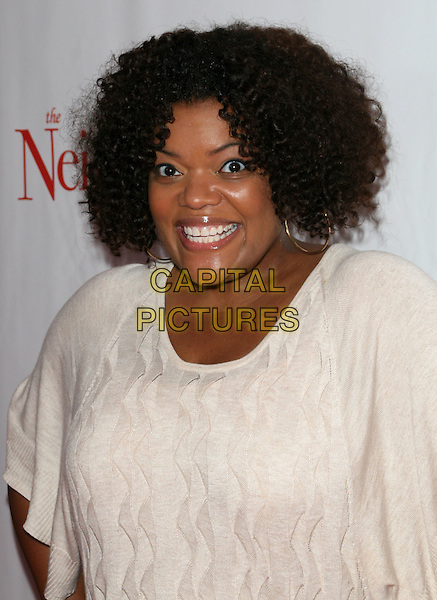 "YVETTE NICOLE BROWN .""The Neighbor"" World Premiere held Laemmle Sunset 5, West Hollywood, California, USA, .11 August 2008..portrait headshot  cream white  top .CAP/ADM/FS.©Faye Sadou/Admedia/Capital Pictures"