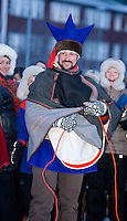 Crown Prince Haakon & Crown Princess Mette Marit of Norway on a two day visit to Finnmark in Norway, visit to Karasjok School, in Karasjok, Finnmark, Northern Norway