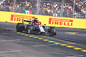 17th March 2019, Melbourne Grand Prix Circuit, Melbourne, Australia; Melbourne Formula One Grand Prix, race day; The number 7 Alfa Romeo driver Kimi Raikkonen during the race