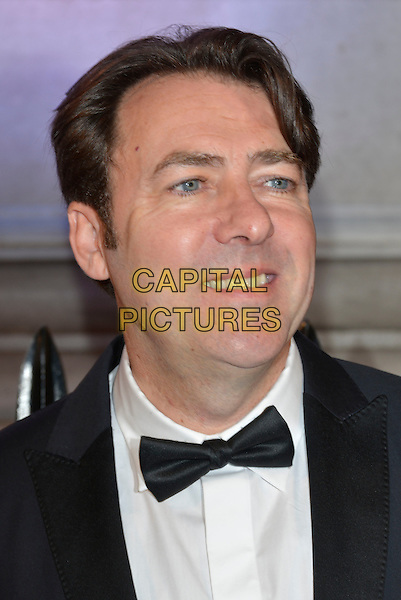 Jonathan Ross<br /> BFI's 'Luminous' gala diner and auction, 8 Northumberland Avenue, London, England.<br /> 8th October 2013<br /> headshot portrait black white tuxedo bow tie <br /> CAP/PL<br /> &copy;Phil Loftus/Capital Pictures