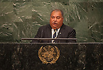 His Excellency Baron Divavesi Waqa, President of the Republic of Nauru<br /> 6th plenary meeting High-level plenary meeting of the General Assembly (3rd meeting)