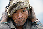 An old man in the village of Gatlang, in the Rasuwa District of Nepal near the country's border with Tibet.