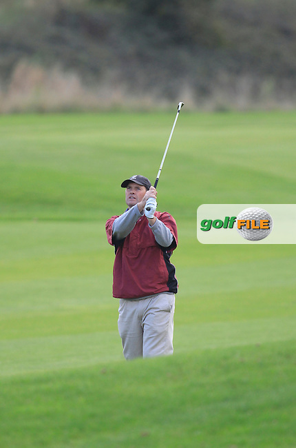 John Duignam (Slade Valley G.C) on the 8th during Round 2 of The Cassidy Golf 103rd Irish PGA Championship in Roganstown Golf Club on Friday 11th October 2013.<br /> Picture:  Thos Caffrey / www.golffile.ie
