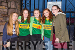 The Home Coming -The The Kerry Minor Team  are Welcomed back to Dingle on Tuesday by l-r Nell Pursiville, Emma McCarthy, Rachel O'Connor, Muireann Galvin and Ellen Ashe.